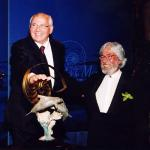 Mikhail Gorbachev and Jean Michel Cousteau receive the Annual Sea Keepers Award