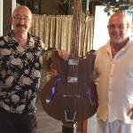 Musician Dave Mason with artist Dale Evers